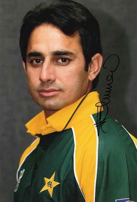 Saeed Ajmal, Pakistan, signed 12x8 inch photo.